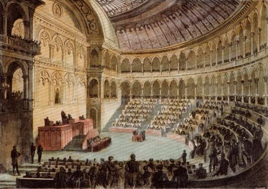 Si riunisce il primo parlamento dell 39 italia unita almanacco for Sede parlamento italiano